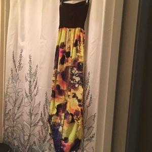 Hurley tube long dress Size M